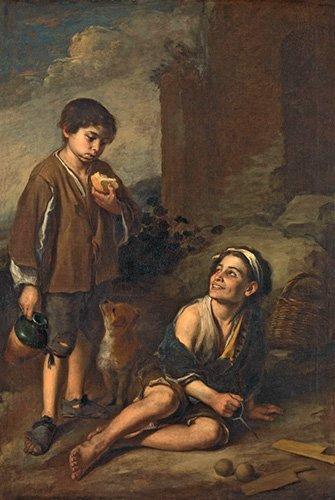cuadros-de-retrato - Cuadro -Dos campesinos- - Murillo, Bartolome Esteban