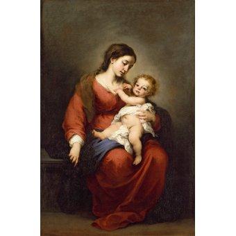 - Cuadro -La Virgen y El NIño- - Murillo, Bartolome Esteban