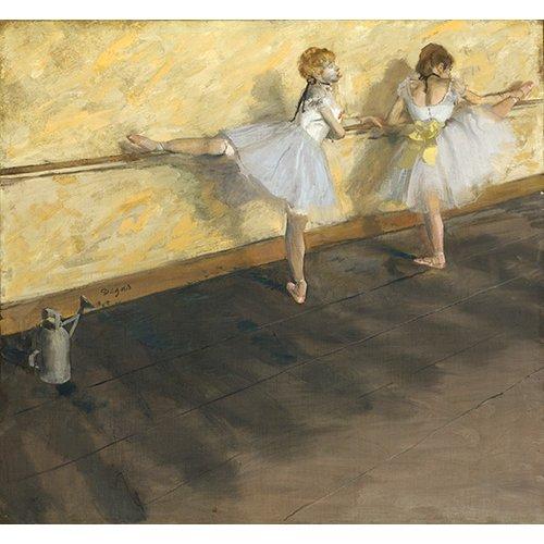 Cuadro -Danseurs exerçant à la barre, 1877-