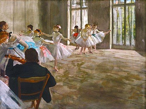 cuadros-de-retrato - Cuadro -Rehearsal In The Studio, 1878- - Degas, Edgar