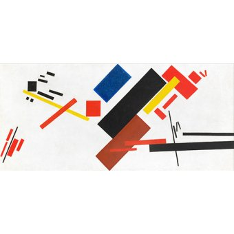 cuadros abstractos - Cuadro -House under construction, 1915- - Malevich, Kazimir S.