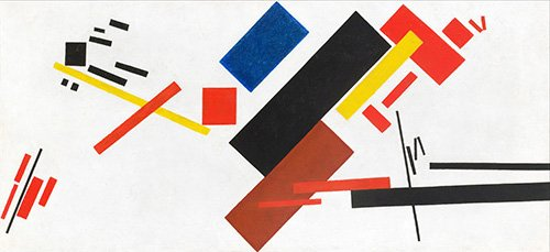 cuadros-abstractos - Cuadro -House under construction, 1915- - Malevich, Kazimir S.