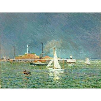 cuadros de marinas - Cuadro - Lorage entree des bateaux - - Maufra, Maxime
