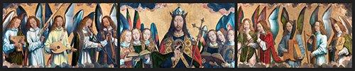 cuadros-religiosos - Cuadro - Cristo con los Angeles Musicos - - Memling, Hans