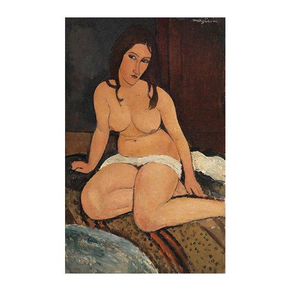 Cuadro - Nu assis (Desnudo sentado), 1917 -