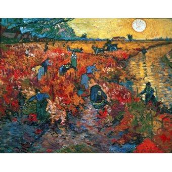 - Cuadro - Viñedo rojo en Arles, 1888 - - Van Gogh, Vincent
