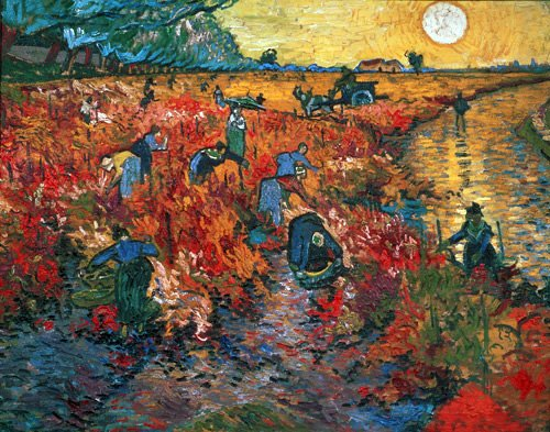 cuadros-de-paisajes - Cuadro - Viñedo rojo en Arles, 1888 - - Van Gogh, Vincent