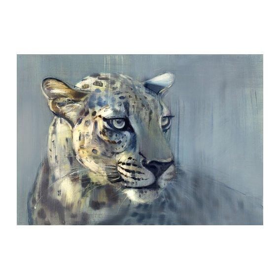 Cuadro-Predator II (Arabian Leopard), 2009 (oil on paper)-