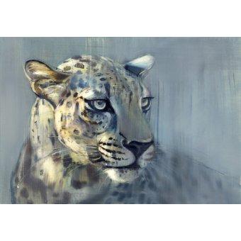 cuadros de fauna - Cuadro-Predator II (Arabian Leopard), 2009 (oil on paper)- - Adlington, Mark