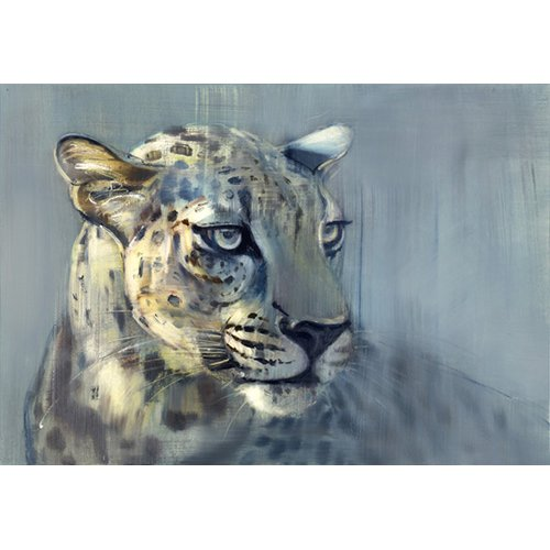 Cuadro-Predator II (Arabian Leopard), 2009 (oil on paper)-