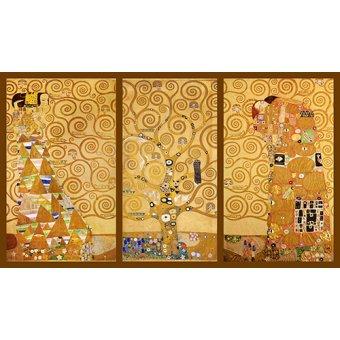 cuadros de retrato - Cuadro -El Arbol de la vida- Triptico - Klimt, Gustav