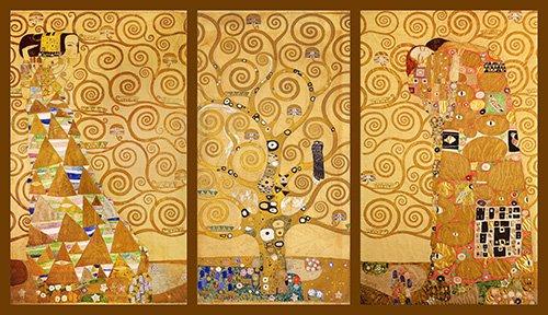 cuadros-para-salon - Cuadro -El Arbol de la vida- Triptico - Klimt, Gustav
