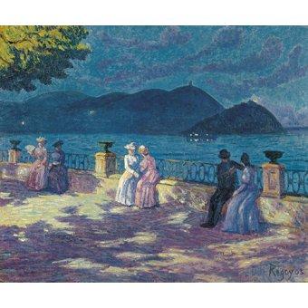 cuadros de marinas - Cuadro -La Concha - Nocturno- - Regoyos, Dario de