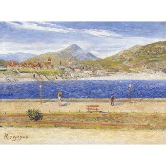 cuadros de marinas - Cuadro -Impresion de La Concha - - Regoyos, Dario de