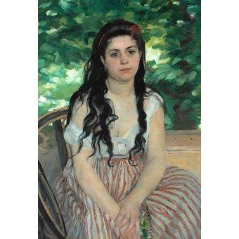 - Cuadro -En été - La bohémienne - - Renoir, Pierre Auguste