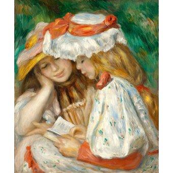 - Cuadro -Dos jovencitas leyendo- - Renoir, Pierre Auguste