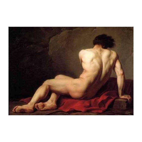 cuadros de retrato - Cuadro -Hombre desnudo conocido como Patroclus-