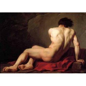 - Cuadro -Hombre desnudo conocido como Patroclus- - David, Jacques Louis