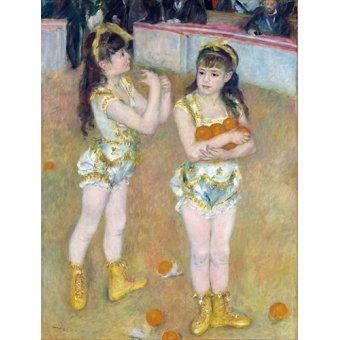 - Cuadro -Acrobats at the Cirque Fernando, 1879- - Renoir, Pierre Auguste