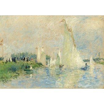 cuadros de marinas - Cuadro -Regata en Argenteuil, 1874 - - Renoir, Pierre Auguste