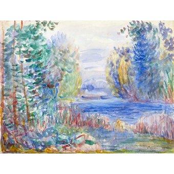 - Cuadro -River Landscape, 1890 - - Renoir, Pierre Auguste