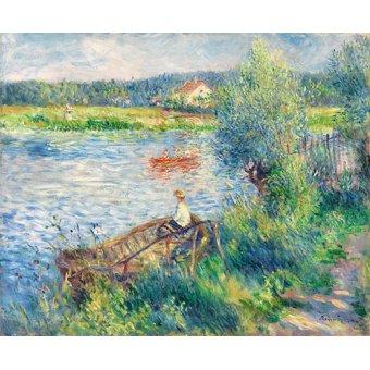 - Cuadro -Canotiers à Bougival- - Renoir, Pierre Auguste