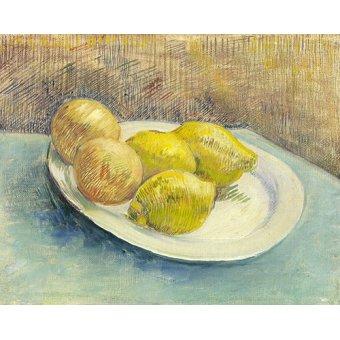 cuadros de bodegones - Cuadro -Bodegon con limones en un plato - - Van Gogh, Vincent
