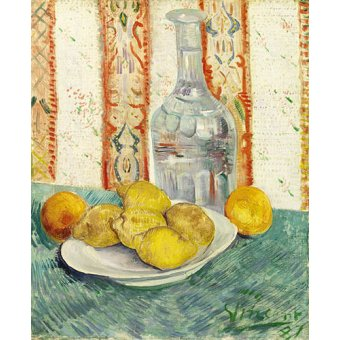 cuadros de bodegones - Cuadro -Carafe and Dish with Citrus Fruit - - Van Gogh, Vincent