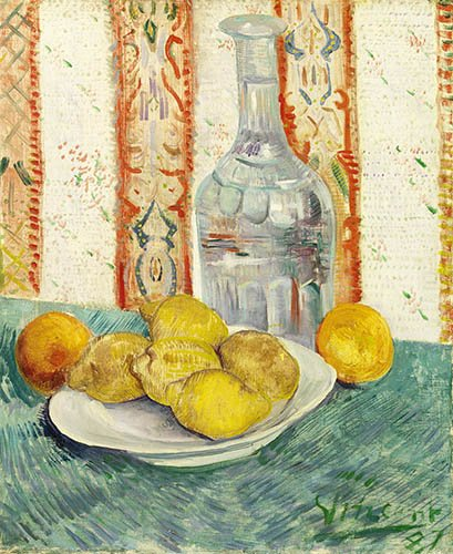 bodegon - Cuadro -Carafe and Dish with Citrus Fruit - - Van Gogh, Vincent