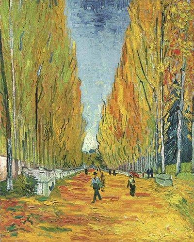 cuadros-de-paisajes - Cuadro -Explanada de Alycamps- - Van Gogh, Vincent