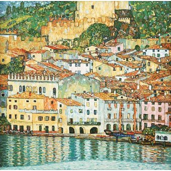 Cuadro -Malcesine on Lake Garda-