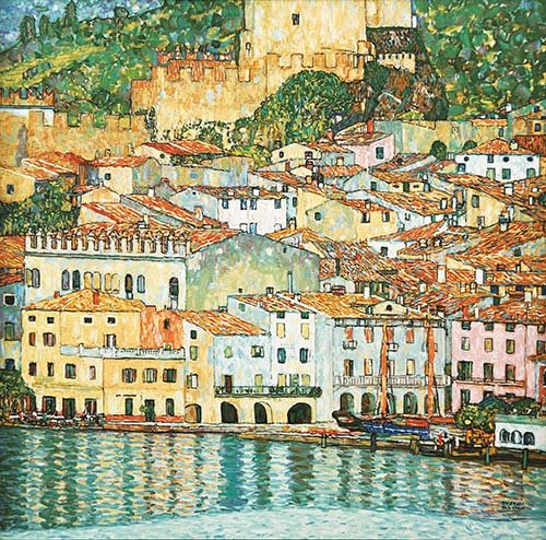 cuadros-de-marinas - Cuadro -Malcesine on Lake Garda- - Klimt, Gustav