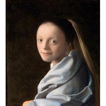 cuadros de retrato - Cuadro -Estudio de una mujer joven- - Vermeer, Johannes