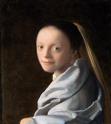 cuadros-de-retrato - Cuadro -Estudio de una mujer joven- - Vermeer, Johannes