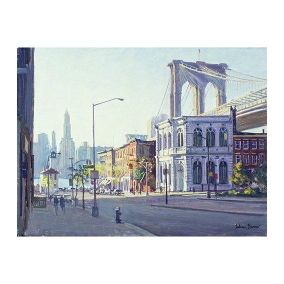 Cuadro -Brooklyn Bridge, New York (oil on canvas)-