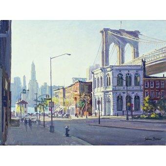 Cuadro -Brooklyn Bridge, New York (oil on canvas)- - Barrow, Julian