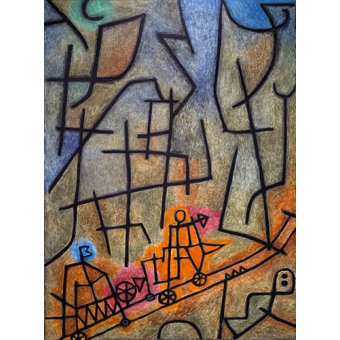 cuadros abstractos - Cuadro - Conquest of the Mountain - - Klee, Paul