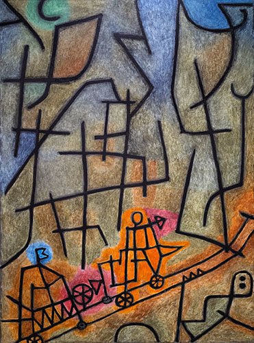 cuadros-abstractos - Cuadro - Conquest of the Mountain - - Klee, Paul