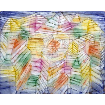 cuadros abstractos - Cuadro - Theater-Mountain-Construction - - Klee, Paul