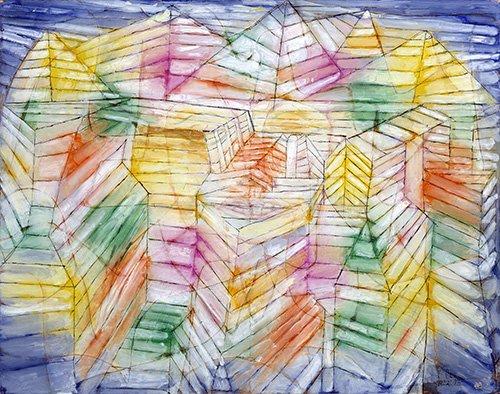 cuadros-abstractos - Cuadro - Theater-Mountain-Construction - - Klee, Paul