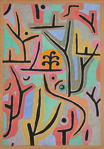 cuadros-abstractos - Cuadro - Park bei Lu,1938 - - Klee, Paul