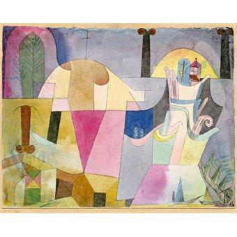 Dormitorio - Cuadro - Black Columns in a Landscape, 1919 - - Klee, Paul