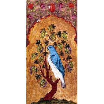 Cuadro -Halcón azul sobre una rama-