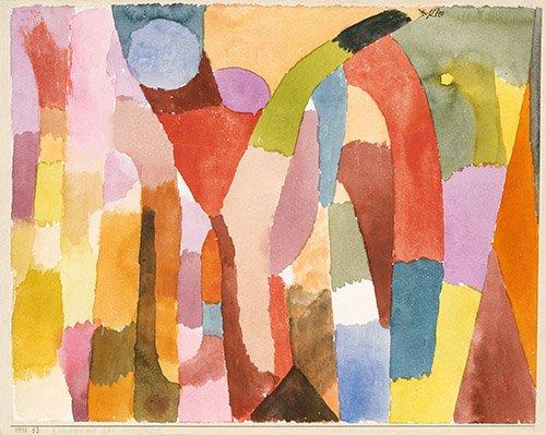 cuadros-abstractos - Cuadro - Bewegung der Gewölbe - - Klee, Paul