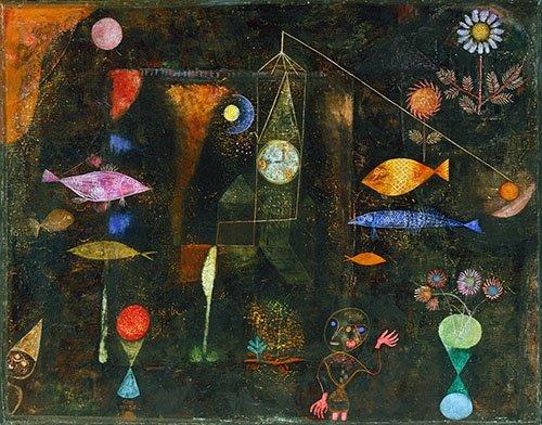 cuadros-abstractos - Cuadro - Fisch Magie, 1925 - - Klee, Paul