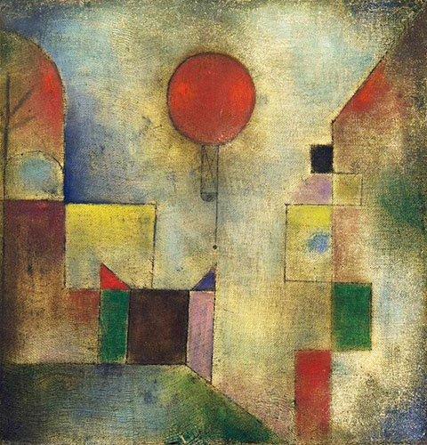 cuadros-abstractos - Cuadro - Roter Ballon, 1922 - - Klee, Paul