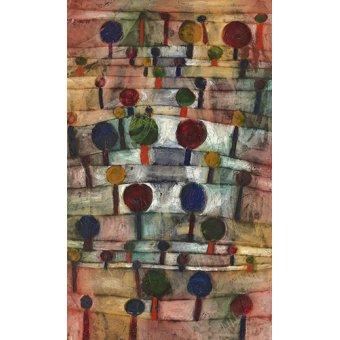 Dormitorio - Cuadro - Rythmische Baumlandschaft,1920 - - Klee, Paul