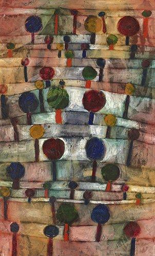 cuadros-abstractos - Cuadro - Rythmische Baumlandschaft,1920 - - Klee, Paul