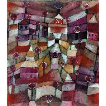 Dormitorio - Cuadro - Rosengarten - - Klee, Paul