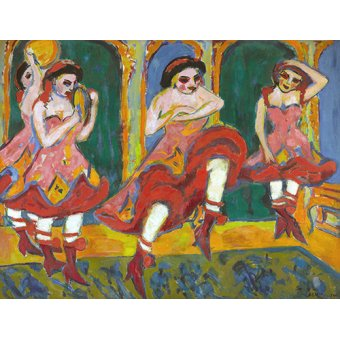 - Cuadro -Bailarines de Czardas- - Kirchner, Ernst Ludwig